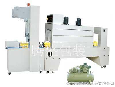 袖口式半自动包装机+PE热收缩包装机
