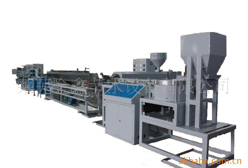 管材生产线之内镶式滴灌管生产线,生产线全长20米-莱芜金鑫节水设备有限公司